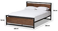 Кровать в стиле Loft SP - LOFT sp-loft-71102