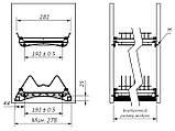 Посудосушитель Т2 фасад 400 с алюминиевой рамкой GIFF хром (2 полки, 2 поддона, 1 рамка и 4 крепления) , фото 4