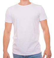 Белая однотонная мужская футболка Bono, фото 1