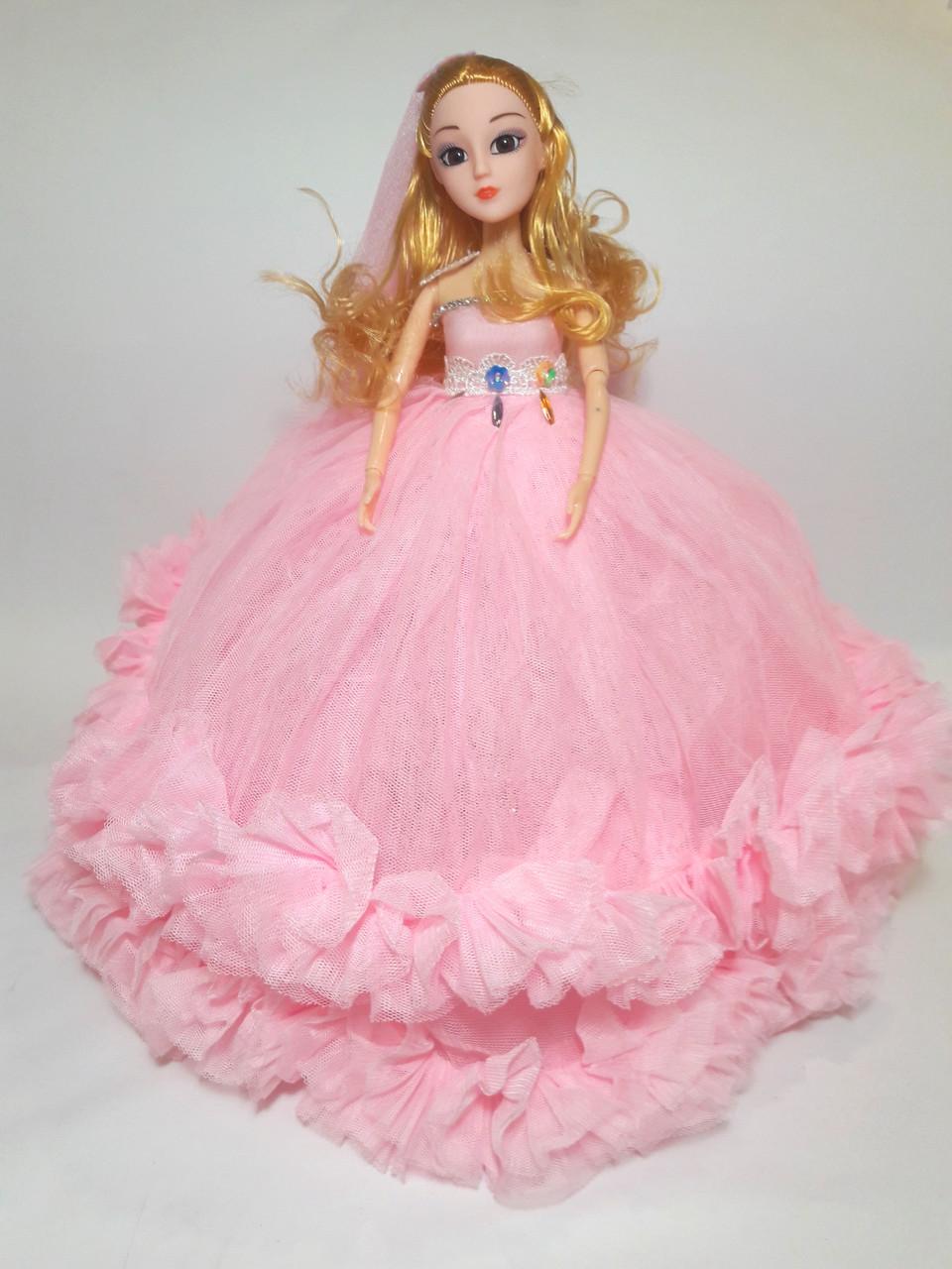 Кукла в стиле Барби в розовом платье