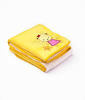 Плед Sensillo 2-STR с 3D вышивкой Sweet Teddies 75*100 S-22866 yellow (арт.19264)