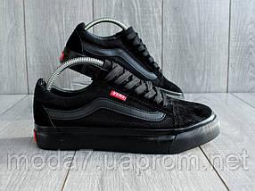 Кеды мужские черные Vans реплика, фото 2
