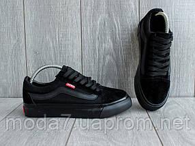 Кеды мужские черные Vans реплика, фото 3