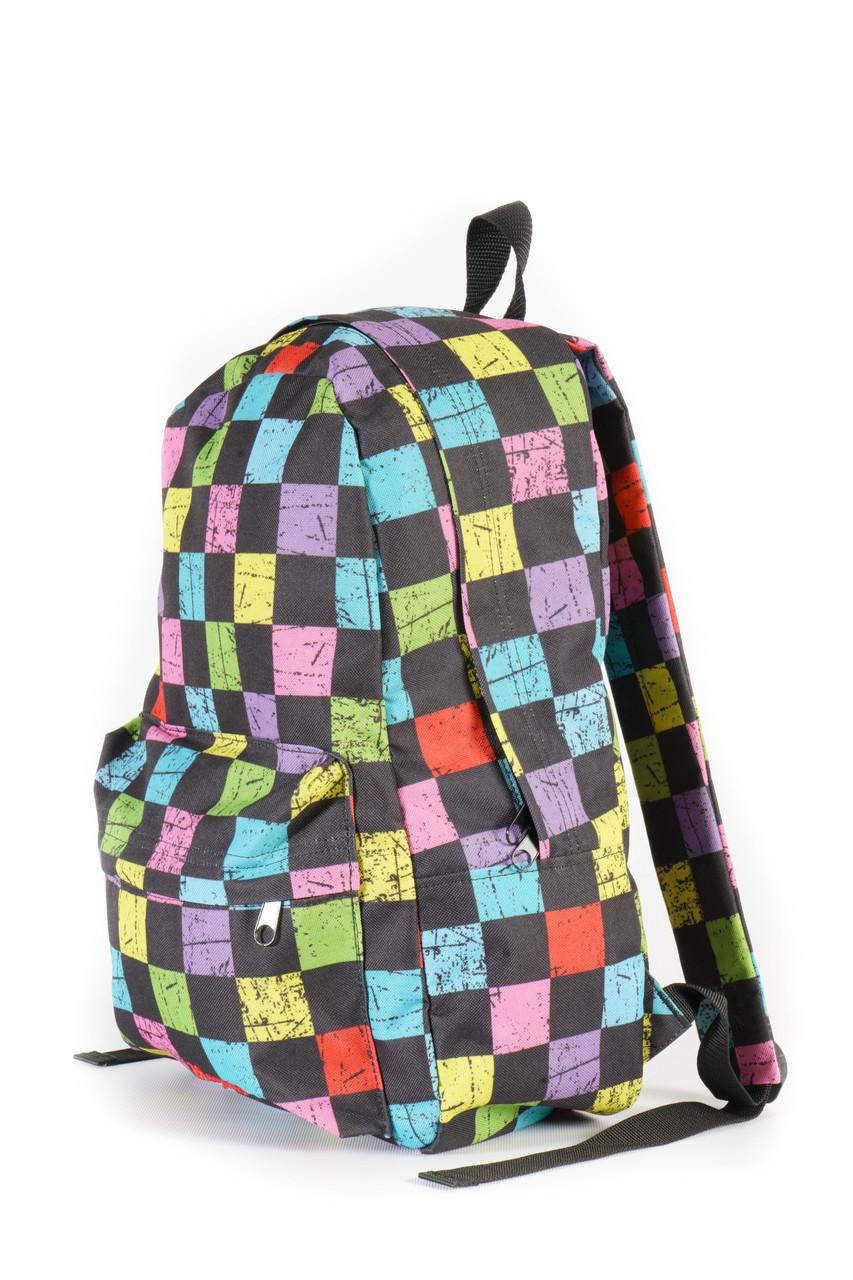 Рюкзак Mayers молодежный с принтом разноцветная клетка, 14 л, фото 2