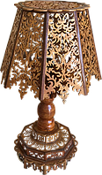 Последняя Настольная Лампа Ручной Работы из Дерева. Антиквариат, фото 1
