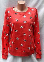 Свитшот женский с пандой M,L,XL. Красный
