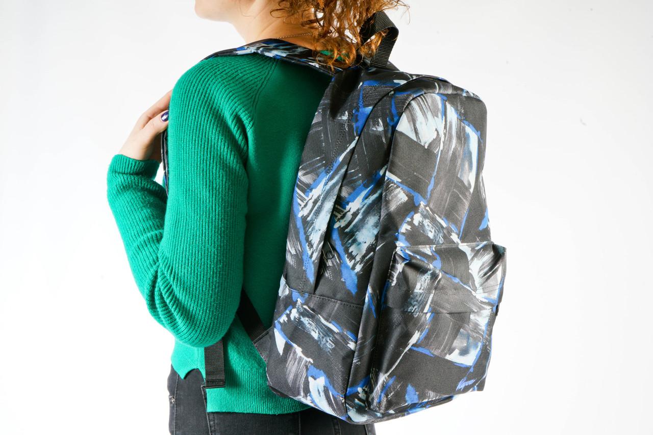 Рюкзак Mayers молодежный с принтом абстракция (голубой), 14 л, фото 3