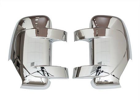 Накладки зеркала Хром Master Movano 2010- CHROM мастер, фото 2