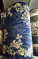 Ковровая дорожка синяя нежные цветы