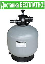 Песчаный фильтр бочка для бассейна EMAUX V500 (11,1 м3/час, 85 кг песка)