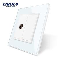 TV розетка Livolo белая (VL-C791V-11), фото 1