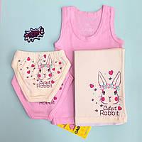 Детский комплект белья для девочки Пуся тм Габбир. 98-110 4afdc1a90e303