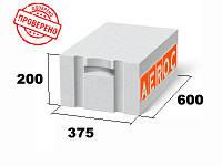 Газоблок Аэрок ЭкоТерм Березань 375х200х600, д400 гладкий/паз-гребень