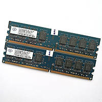 Комплект оперативной памяти Nanya DDR2 2Gb (1Gb+1Gb) 800MHz PC2 6400U CL6 (NT1GT64U8HB0BY-25D) Б/У, фото 1