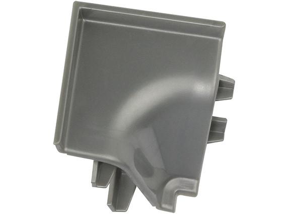 Кут до плінтуса Rehau 118 90* 98656 Сірий металік-внутрішній