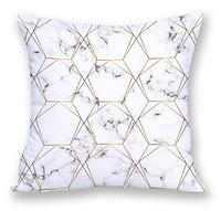 Декоративная подушка с мраморным принтом