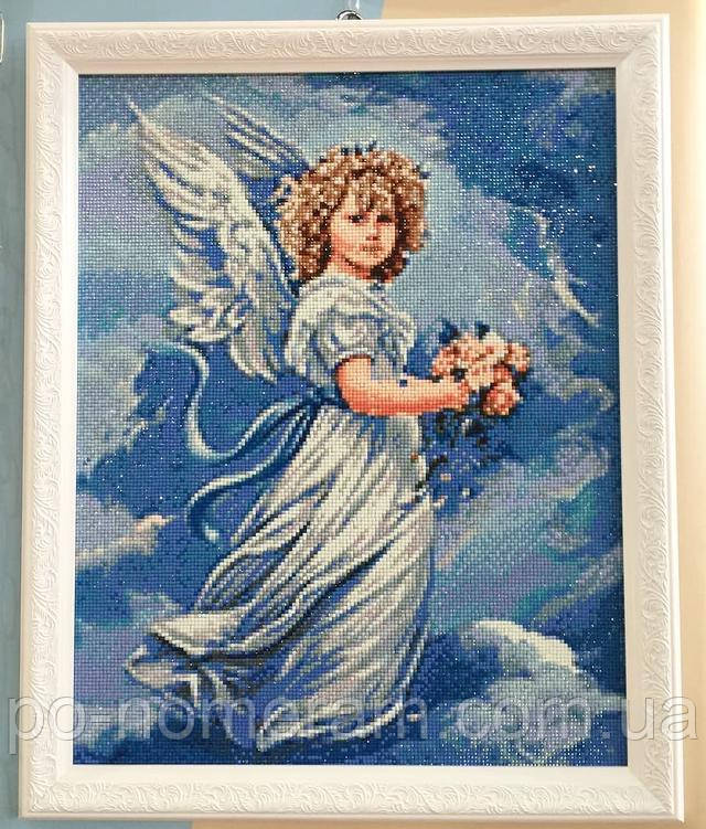 Алмазная вышивка квадратными стразами картина с ангелом