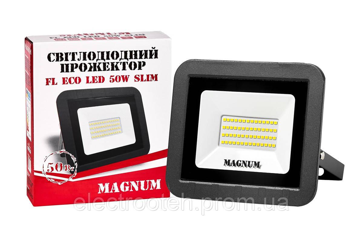 Прожектор світлодіодний MAGNUM FL ECO LED 50Вт slim 6500К IP65