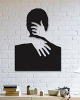 """Декоративное панно на стену """"С любимыми не расставайтесь..."""" . Картина из металла."""