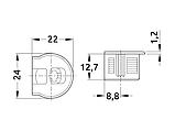 Стяжка з болтом 16 HAFELE Rafix чорний (263.10.303/263.20.141), фото 2