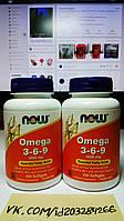 NOW Omega 3-6-9 100 softgels, фото 1