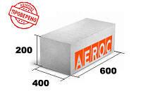 Газоблок Аэрок Березань 400х200х600 гладкий/паз-гребень, плотность д400 Аэрок ЭкоТерм