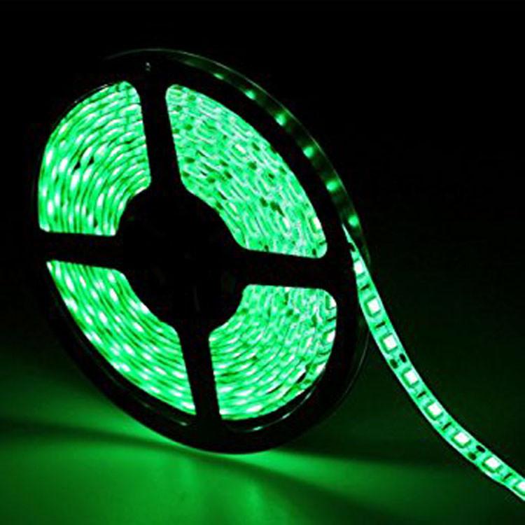 Светодиодная LED лента 5050 зеленая 5м пылезащита блок питания влагозащита пятиметровая с блоком питания