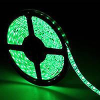 Светодиодная LED лента 5050 зеленая 5м пылезащита блок питания влагозащита пятиметровая с блоком питания, фото 1