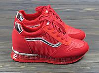 Женские красные кроссовки Lonza FLM810-1 36 23 см, фото 1