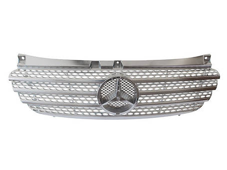 Решетка радиатора Mercedes vito viano 639 вито тюнинг хром, фото 2