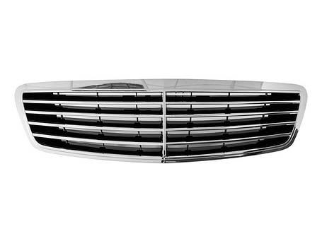 Решетка радиатора тюнинг Mercedes W220 98-02, фото 2