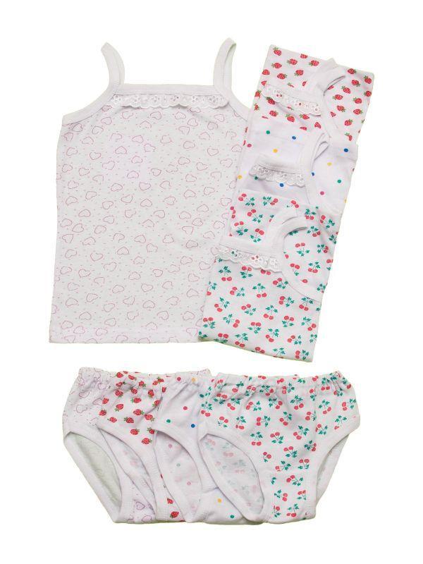Комплект нижнего белья для девочки топ-майка и трусики, фото 1