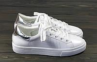 Женские кеды на шнуровке Lonza FLM88115 WHITE/SIL 36 23 см