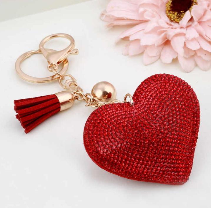 Брелок на сумку в форме Сердца