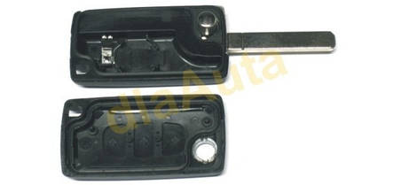 Корпус ключа Peugeot 207 307 308 407 607 пежо, фото 2