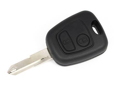 Корпус ключа Peugeot 106 206 306 Partner, фото 2