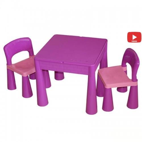 Комплект детской мебели Tega Baby Mamut стол + 2 стульчика Violet