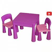Комплект детской мебели Tega Baby Mamut стол + 2 стульчика Violet, фото 1