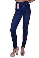 Лосины женские под джинс с вышивкой (TK221)   12 пар