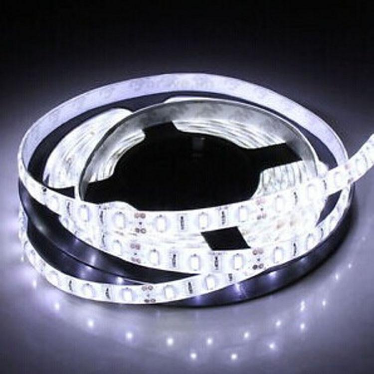 Светодиодная LED лента 3528 белая 5 метров блок питания защита от влаги пятиметровая ЛЕД 5м с блоком питания