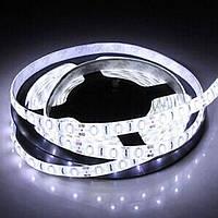 Светодиодная LED лента 3528 белая 5 метров блок питания защита от влаги пятиметровая ЛЕД 5м с блоком питания, фото 1
