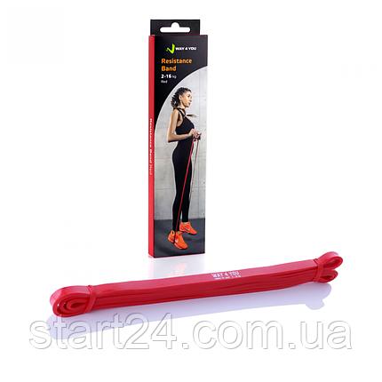 Резинка для подтягивания WAY 4 YOU  2 - 16 кг. (красная), фото 2