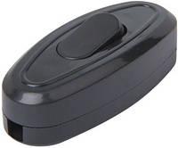 Переключатель света e.switch wires.6A.black, 6А, черный