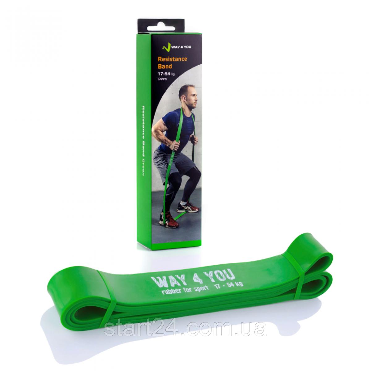 Резинка для подтягивания WAY 4 YOU  11 - 36 кг. (зеленая)