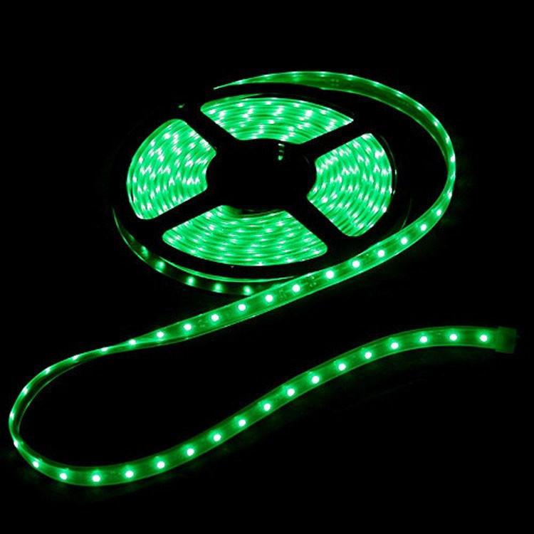 Светодиодная LED лента 3528 зеленая 5м пылезащита блок питания защита от влаги пятиметровая с блоком питания