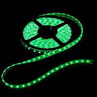 Светодиодная LED лента 3528 зеленая 5м пылезащита блок питания защита от влаги пятиметровая с блоком питания, фото 1