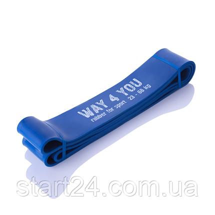 Резинка для подтягивания WAY 4 YOU  23 - 68  кг. (синяя), фото 2