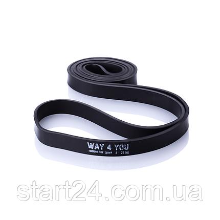 Резинка для подтягивания WAY 4 YOU  5 - 22 кг. (черная), фото 2