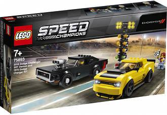 Lego Speed Champions Dodge Challenger SRT Demon и 1970 Dodge Charger 75893