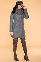 Пальто качественное с хомутом зимнее Сплит 5834, фото 1